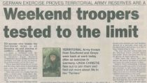 Evening Echo – Territorial Army feature